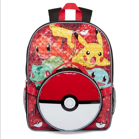 Nintendo Pokemon Backpack with Lunch Kit a2dd7259869b9